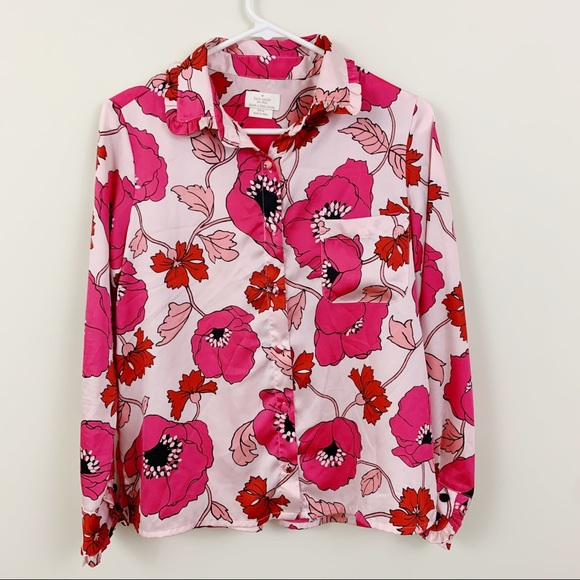 kate spade Other - Kate spade button up poppy flower PJ top XS